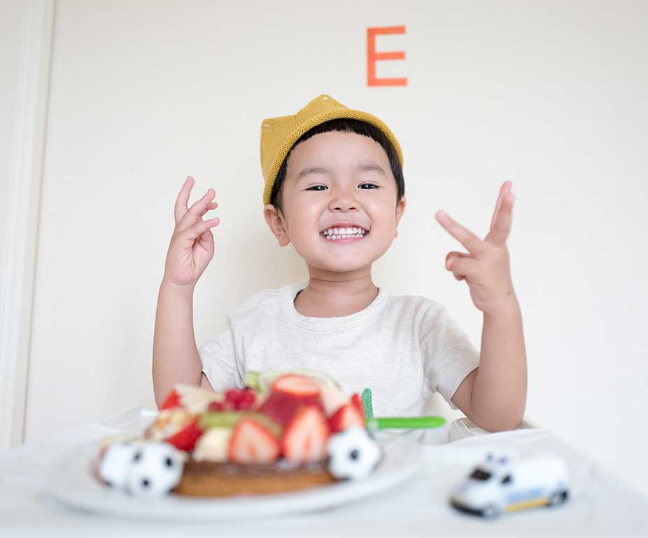 Image - Smiling Boy with Cake