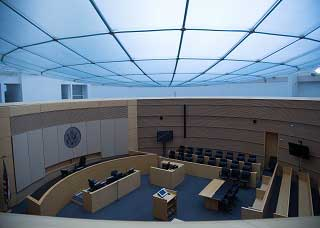 Image of the interior of the Sandra Day O'Connor District Courthouse