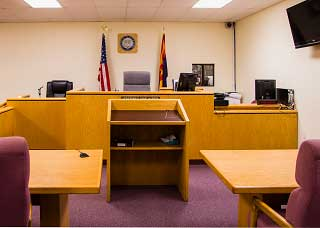 Image of a Kingman Justice Court courtroom