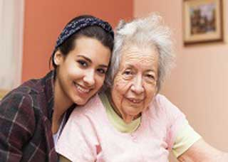 Image of a grandma and granddaughter