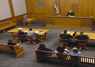 Image of a court hearing