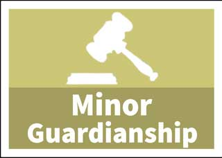 Gavel over the words Minor Guardianship